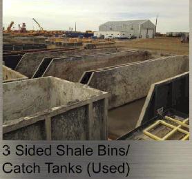 Sided Shale Bins / Catch Tanks