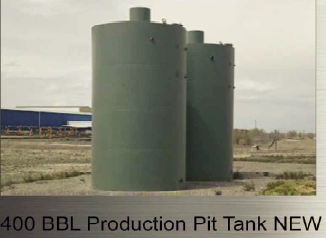 400 bbl. Production Pit Tank