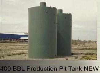 400 bbl. Production Pit Tank