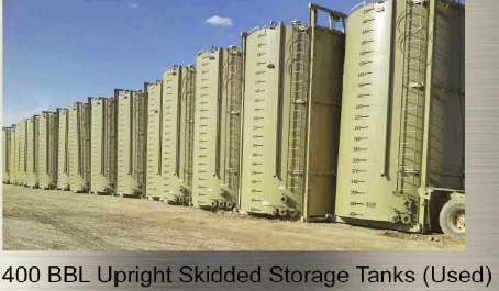400 bbl Upright tanks