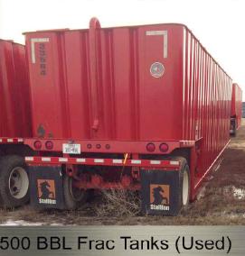 500 bbl. Frac Tanks