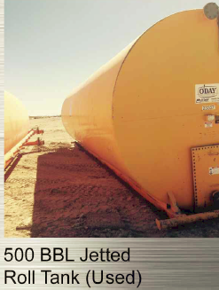 500 bbl Jetted Roll Tank